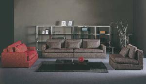 Quality 3 Seater Fabric Modular Corner Sofa , Luxury Italian Fabric Sofa Set , China for sale