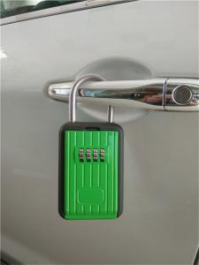 China Black / Green 4 Digit Zinc / Aluminum Alloy Car Key Lock Box With Digit Dialing on sale