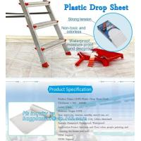 China HDPE protective plastic Drop sheet Drop cloth Paint dust sheet, 3.7*3.7m PE Plastic Drop Sheet, painter dust sheetS, PAC on sale