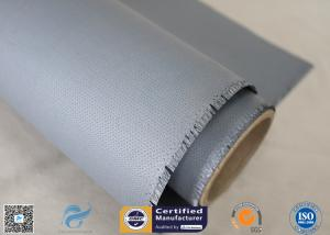 China 40/40g Satin Weave Flame Resistant Alkali Free Silicone Coated Fiberglass Fabric on sale