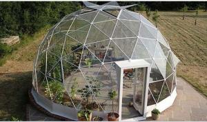 China 4M - 10M PVC Cover Metal Frame Garden Clear Geodesic Dome Tent For Sale on sale