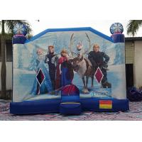 China Large Frozen Princess Happy Hop Inflatable Bounce House Inside Slide on sale