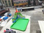 Outdoor Inflatable Water Park For Kids / Extreme Fun Water Theme Park