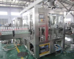 China Automatic Complete Monoblock liquid bottle juice filling machine with Capping and Labeling Fruit Juice on sale