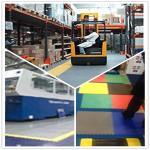 PVC Interlocking Flooring plastic Floor tile heavy duty warehouse tile