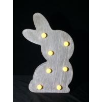 Bunny night light new products led lighting Wholesale Easter decoration wooden led light box Linhai china suppliers