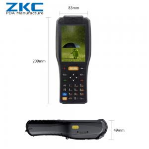 China 2018 new laser rugged scanner barcode scanner touch screen android pda device with built in thermal printer on sale