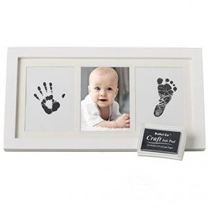 China baby footprints frame for first year photo for decoration on sale