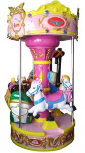 China Merry Go Round Carousel Kiddie Ride Musical For Amusement Park on sale