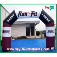 Colourful Double Gate Inflatable Entrance Arch Waterproof Air Arch For Promotion