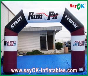 China Colourful Double Gate Inflatable Entrance Arch Waterproof Air Arch For Promotion on sale