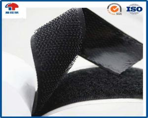 China Heavy duty double sided Sticky Hook And Loop fastener tape 25mm in Black colour on sale