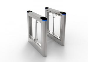 China Looks Glossy Acrylic Stainless Steel Swing Gate Imported LED Indicator on sale
