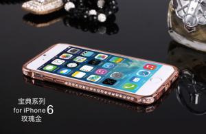 China Iphone 6 Plus 5.5inch Luxury Metal Diamond Bumper Case on sale