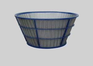 China Stainless Steel Johnson Wire Screen For Coal Coarse Centrifuge Basket on sale