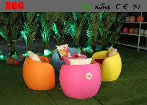 China Single Light Weight Plastic Garden Chairs Waterproof / Fireproof Patio Chairs on sale