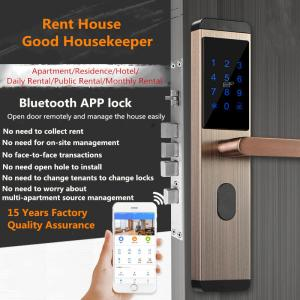 China Mobile Bluetooth Remote Intelligent Door Lock Rental House Use With Dynamic Password on sale