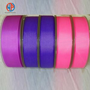 China Factory Wholesale 100% Polyester Grosgrain Ribbon For Packaging on sale