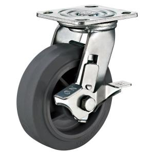 China 5 x 2 Heavy Duty Caster Wheels With Locks Side Swivel Top plate Fitting on sale