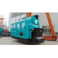 Horizontal Wood Fired Steam Boiler Low Pollution Combustion Automatic And Chain Grate