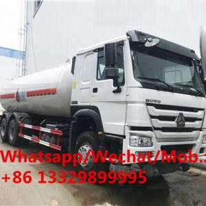 China SINO TRUK HOWO 6*4 LHD 25,000L LPG Gas Tank Truck for sale, HOT SALE!  HOWO bulk propane gas tanker delivery truck on sale