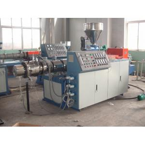 China Fully Automatic Conical Twin Screw Extruder With CE ISO9901 Certificate on sale