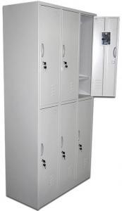 China 6 Swing Door Metal Steel Iron Locker/Wardrobe/Cabinet on sale