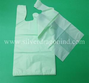 China Custom  Biodegradable bag,Bio-Based T-Shirt Bag,Eco-Friendly bag,Wow!High quality,Low price on sale