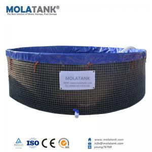 China Molatank Flexible and Foldable PVC Tarpaulin Aquarium Fish Farming Tank with Competitive Price on sale