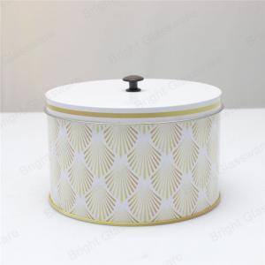 China Cheap wholesale metal round scented aluminum candle tin with lids on sale