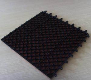 China Black Outdoor / Indoor WPC DIY Tile Easy Install and Low Maintenance on sale