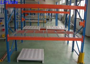 China Industrial Warehouse Steel Wire Pallet Rack With Wire Mesh Decking Robot Welding on sale