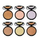 6 Color Makeup Pressed Face Makeup Highlighter , Face Highlighter Products For Brighten Skin