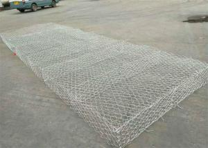 China Army Border Perimeter Wire Mesh Gabion Box / Defensive Barriers Hexagonal Hole Shape on sale