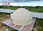 Waterproof Geodesic Dome Tent With Steel Frame Used For Glamping or event