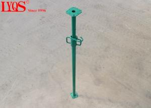 China Light Duty Adjustable Shoring Posts Green Powder Coating Long Life Span on sale