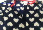 Heart Print Baby Fleece Pram Suit And Hat Sets For Girls OEM / ODM Available