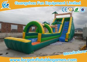 China Funny Outdoor Playground Giant Backyard Inflatable Water Slide Double Tripple Stitch on sale
