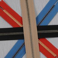 China Smooth metal zipper on sale