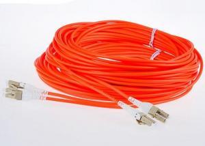 China LSZH Jacket LC - LC Fiber Optic Patch Cables MM Duplex G652D 50 / 125 Fiber Optic Cable on sale
