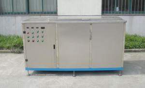 China Three Cans Ultrasonic Cleaning Machine , Industrial Cleaning Machine Steam With Cold Tray on sale