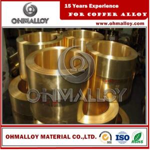 China 0.8 * 150mm Copper Based Alloys Brass Strip / Tape Cu70Zn30 C26000 For Cartridge Case on sale