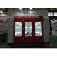 China 7m Paint Chamber Garage Spray Booth Heat Recuperation Rock Wool Panel Siemens Motor on sale