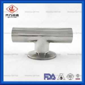 China Stainless Steel Sanitary Weld Fittings Customized Size Clamp  Weld Tee on sale