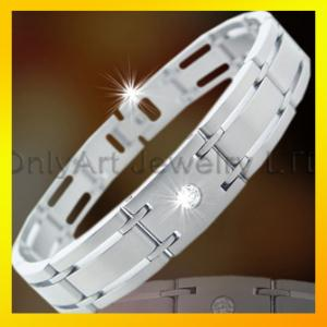 China hot selling good design fashion stainless steel or titanium bracelet on sale