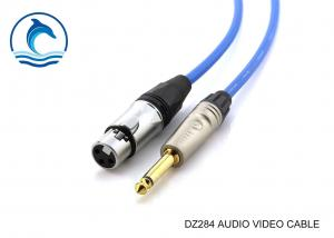 China 6.35mm Stereo Audio Cable 6.35 6.5 Microphone Plug / Video To Video Cable on sale