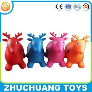 China Environmental bulk plastic inflatable cartoon animal deer toys on sale