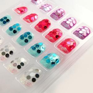 China Fashionable Paillette Fake Fingernails Glitter Nail Tips For Women on sale
