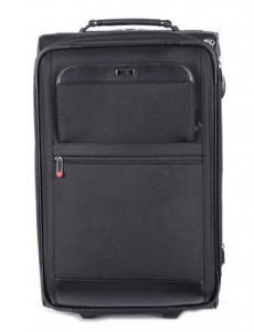 China Bolsos negros del viaje del equipaje del Carryon del balanceo con la manija del top y del lado on sale