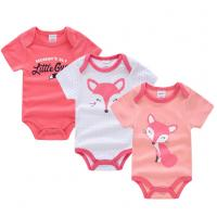 China Short Sleeve Newborn Baby Girl Clothes Gift Sets With Envelope Neck Cartoon Pictures on sale